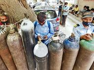 दिल्ली से फिर आए 200 सिलेंडर; ऑक्सीजन का कोटा बढ़ा, अब मिलेगा 274 एमटी|पटना,Patna - Dainik Bhaskar