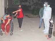 पिम्स में कोरोना मरीज को एंबुलेंस में शिफ्ट करते वक्त मौत बेटी का आरोप- खाली था ऑक्सीजन सिलेंडर|जालंधर,Jalandhar - Dainik Bhaskar