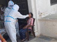 PPE किट में घुटता है दम, आंखों में जलन होती है; फिर भी अलग-अलग गांवों में जाकर लेते हैं सैंपल राजस्थान,Rajasthan - Dainik Bhaskar
