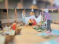 काेराेना काे राेेकने गांवों में गाइडलाइन के अनुसार हो रहे विवाह, अब सामूहिक भोज भी नहीं हो रहे जशपुर,Jashpur - Dainik Bhaskar