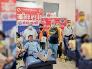 दो संगठन सदस्यों ने किया 51 यूनिट रक्तदान श्रीगंंगानगर,Sriganganagar - Dainik Bhaskar