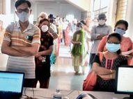 रहवासियों की पहल... कोई घर से लैपटॉप लाया तो किसी ने किया पंखे का इंतजाम, 46 दिन में 45+ वाले 6000 लाेगों को लगा टीका|भोपाल,Bhopal - Dainik Bhaskar