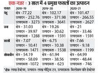 गेहूं के उत्पादन में हम पिछड़े लेकिन चना और साेयाबीन की पैदावार बढ़ाई|भोपाल,Bhopal - Dainik Bhaskar