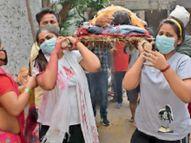 पिता के जिन कंधों पर डोली में बैठने के सपने बुन रही थी सिमरन, उसे देना पड़ा कंधा मुजफ्फरपुर,Muzaffarpur - Dainik Bhaskar