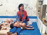 पत्नी व आठ माह के बेटे काे जिंदा जलाकर मार डाला, दूसरे बच्चे को तड़पता छोड़ भागा|पटना,Patna - Dainik Bhaskar