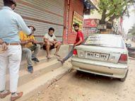 ऑटो, ई-रिक्शा चालकों व ब्रेड-पकौड़ा तलने वालाें ने लाइसेंस लेकर बेचनी शुरू की सब्जियां|अम्बाला,Ambala - Dainik Bhaskar