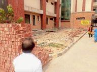 कैंट सिविल अस्पताल में 15 दिन में तैयार करना था ऑक्सीजन प्लांट, एक हफ्ते में ईंट भी नहीं लगी|अम्बाला,Ambala - Dainik Bhaskar
