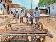 दूसरे साल भी नहीं हुई गाड़ा खिंचाई, किया पूजन,अक्षय तृतीया के बाद आने वाले पहले रविवार को खींचते हैं गाड़े खरगोन,Khargone - Dainik Bhaskar