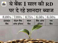 बच्चे या अपने नाम पर RD कराने का बना रहे हैं प्लान, तो पहले यहां जान लें कौन सा बैंक दे रहा कितना ब्याज|पर्सनल फाइनेंस,Personal Finance - Money Bhaskar