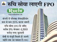 बाबा रामदेव की कंपनी रुचि सोया ने सेबी के पास FPO के लिए दिया आवेदन, 4,300 करोड़ रुपए जुटाने की योजना इकोनॉमी,Economy - Money Bhaskar