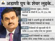 अडाणी ग्रुप की कंपनियों के 43500 करोड़ के शेयर फ्रीज, सेबी की जांच शुरू, निवेशकों को शुरुआती एक घंटे में करीब 50 हजार करोड़ का नुकसान मार्केट,Market - Money Bhaskar