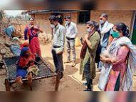 गांवों में पहुंचकर बांटे फूड पैकेट, वैक्सीन के लिए जागरूक किया|झाबुआ,Jhabua - Money Bhaskar