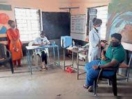 जिलेभर के 45 केंद्रों पर दिनभर में 1300 लोगों को लगाना था टीका, 988 को लगा|आलीराजपुर,Aliraj Pur - Money Bhaskar