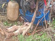 जबलपुर में ट्रैक्टर ने बाइक सवार को कुचला, उधर, खेत जुताई के दौरान पलटने से ट्रैक्टर के नीचे दबकर ड्राइवर की मौत|जबलपुर,Jabalpur - Money Bhaskar