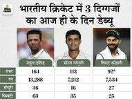 1996 में गांगुली और द्रविड़, तो 2011 में कोहली ने किया था टेस्ट डेब्यू, तीनों दिग्गज कप्तान भी बने|क्रिकेट,Cricket - Money Bhaskar