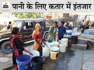 सार्वजनिक नलों पर कतार और टैंकर मंगवाना मजबूरी; पाइप लाइन ऊंची होना बना ग्रामीणों के लिए परेशानी, नहीं हो रही सुनवाई|राजस्थान,Rajasthan - Money Bhaskar