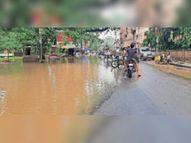 शहर की गलियाें में भी नाला व बारिश का पानी हाे गया एक, बाढ़ जैसे हालात|भागलपुर,Bhagalpur - Money Bhaskar