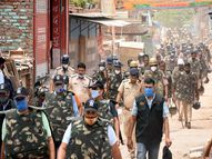 तोड़फोड़ से पहले खोरी कॉलोनी में 3000 पुलिसकर्मियों ने किया फ्लैग मार्च, निगम प्रशासन को सरकार से हरी झंडी मिलने का इंतजार|फरीदाबाद,Faridabad - Money Bhaskar