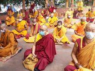 गया में ऑनलाइन और ऑफलाइन कैंप का किया गया आयोजन, बौद्ध भिक्षुओं ने भी की योग की विभिन्न क्रियाएं|बिहार,Bihar - Money Bhaskar
