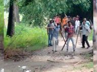 तुरकौलिया में जमीन मापी के दौरान दो पक्षों में हुआ विवाद; झड़प के बाद गरजी बंदूक, एक ही पक्ष के 3 घायल|बिहार,Bihar - Money Bhaskar