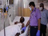 ग्लाइंडर से एक शख्स का आधा सीना कटा गया था,एक घंटे तक आपरेशन करने के बाद बचा ली जान प्रयागराज,Prayagraj - Dainik Bhaskar