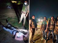 25 हजार के इनामी 2 बदमाश मुठभेड़ में गिरफ्तार, हाईवे पर करते थे लूटपाट; 3 साल से थे फरार|आगरा,Agra - Money Bhaskar