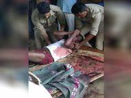 गांव के बाहर बने मकान में सो रहा था मृतक, धारदार हथियार से वार कर मारा; परिजन गांव के ही व्यक्ति पर लगा रहे आरोप|गोरखपुर,Gorakhpur - Money Bhaskar