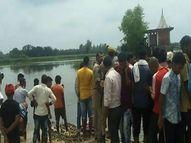 उफनाई नदी में नहाते वक्त डूबे बच्चे, गोताखोर और पुलिस कर रही तीनों की तलाश|लखनऊ,Lucknow - Money Bhaskar