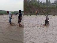 लगातार बरसात ने ग्रामीण इलाकों में बाढ़ का खतरा, कई गांवों का संपर्क जिला मुख्यालय से कटा; लगातार बढ़ रहा है हथिनीकुंड का जलस्तर|सहारनपुर,Saharanpur - Money Bhaskar
