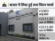 तत्व चिंतन के शेयर से दोगुनी कमाई, 1083 रुपए का शेयर 2111 रुपए पर लिस्ट; IPO भी 180 गुना भरा था इकोनॉमी,Economy - Money Bhaskar