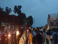 बारिश के बाद गणेश मंदिर पर लगे हैलोजन से लोह के पाेल में दौड़ा करंट, युवक की मौत, आक्रोशित लोगाें ने लगाया जाम|भिंड,Bhind - Money Bhaskar