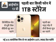 आईफोन 13 सीरीज के 4 मॉडल लॉन्च, 6 मीटर गहरे पानी में 30 मिनट तक काम करेंगे; इसकी शुरुआती कीमत 69900 रुपए|टेक & ऑटो,Tech & Auto - Money Bhaskar