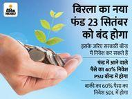 बिरला म्यूचुअल फंड ने लॉन्च किया निफ्टी SDL प्लस PSU इंडेक्स फंड, अच्छी कंपनियों में यह फंड करेगा निवेश|इकोनॉमी,Economy - Money Bhaskar