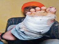 मेरठ से पंजाब कमाने आए मजदूर को मेहताना मांगना पड़ा मंहगा, ठोकी गई उसके पैरों पर कील|अमृतसर,Amritsar - Money Bhaskar
