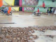 रोड पर पानी भरने से आने-जाने वाले हो रहे परेशान, आए दिन हो रहे विवाद, चार पहिया गाड़ियां निकलती है तो रोड का पानी उड़ने से टू-व्हीलर वाले भीग जाते हैं महू,Mhow - Money Bhaskar