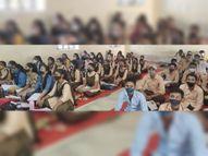 सात माह बाद खुले 6 से 8वीं तक के स्कूल, कई जगह सोशल डिस्टेंसिंग टूटा|सवाई माधोपुर,Sawai Madhopur - Money Bhaskar