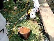 पैर में बंधा था बड़ा पत्थर, सिर में चोट के निशान भी मिले, परिजन बोले - जेब में रखे 20 हजार रुपए भी गायब|शिवपुरी,Shivpuri - Money Bhaskar