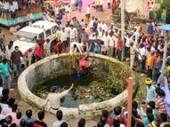 विसर्जन चल समारोह के दौरान तैरने के लिए कुएं में कूदे थे तीन युवक, दो तो निकल आए, तीसरा गहरे पानी में चला गया, गई जान|बैतूल,Betul - Money Bhaskar