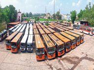 12 रूट की 65 सिटी बसें लाॅकडाउन के बाद डेढ़ साल से अब तक बंद रायपुर,Raipur - Money Bhaskar