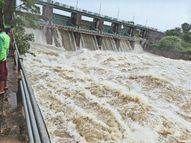 15 साल बाद जामड़ पुलिया पर आया पानी, धोलावड़ डेम के 4 गेट 3 मीटर तक खोले, केदारेश्वर में रौद्र हुआ झरना|रतलाम,Ratlam - Money Bhaskar