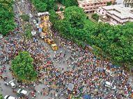 हैदराबाद में 40 हजार मूर्तियों के विसर्जन में 27 हजार सुरक्षाकर्मी तैनात रहे, मुंबई में 25 हजार मनपा और 2300 पुलिस कर्मियों ने की सुरक्षा|देश,National - Money Bhaskar
