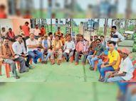बिजली समस्या से नाराज लाेगाें ने हरदीबाजार में दिया धरना, बालकाे के लाेग पहुंचे थाने कोरबा,Korba - Money Bhaskar