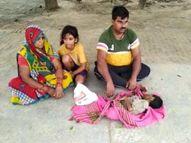 9 माह से निलंबित चल रहा सफाईकर्मी, बेटी ने इलाज के अभाव में तोड़ा दम, विकास भवन के सामने शव रखकर बैठ गया परिवार फिरोजाबाद,Firozabad - Money Bhaskar