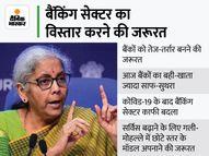 वित्त मंत्री निर्मला सीतारमण ने कहा- देश में SBI जैसे 4 या 5 बड़े बैंकों की जरूरत, कई हिस्सों में अब भी बैंकिंग सुविधाओं की कमी|कंज्यूमर,Consumer - Money Bhaskar