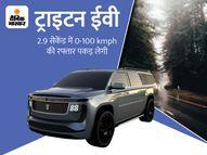 2 घंटे में फुल चार्ज होकर 1200 किमी तक दौड़ेगी ट्राइटन इलेक्ट्रिक कार, 8 पैसेंजर कर पाएंगे सफर टेक & ऑटो,Tech & Auto - Money Bhaskar