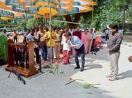विजयादशमी पर पुलिस ने की शस्त्र पूजा, एसपी ने दी कद्दू की बलि|रायगढ़,Raigarh - Money Bhaskar