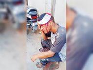 ऑमलेट बनाने से मना किया तो पड़ोसी दुकानदार ने सिर पर दे मारी कस्सी|नयागांव,Nayagaov - Money Bhaskar