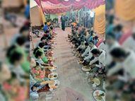 रावण दहन के बाद लंगर का आयोजन किया|नयागांव,Nayagaov - Money Bhaskar