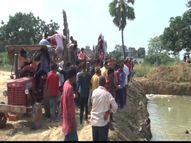 तालाबों में विसर्जित की जा रही प्रतिमाएं, जिले में 1089 प्रतिमाएं हुई थी स्थापित, SDM को किया गया तैनात|आजमगढ़,Azamgarh - Money Bhaskar