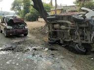 खरगोन में कार टूचन कर ले जा रहा था टैंपो, सामने से आ रही एक अन्य कार ने मार दी टक्कर मध्य प्रदेश,Madhya Pradesh - Money Bhaskar
